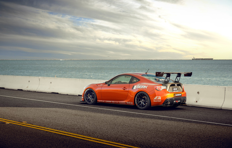 Photo wallpaper orange, tuning, profile, Toyota, tuning, orange, Scion, Scion, fr-s, FR-s