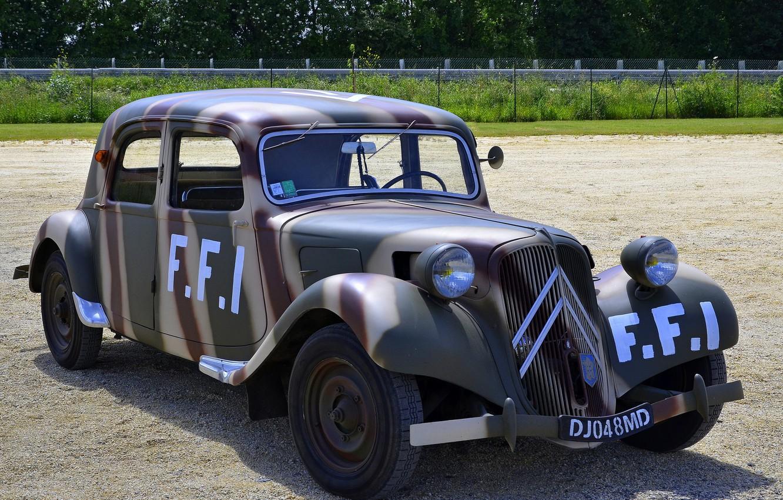 Photo wallpaper Citroën, car, the front, Traction FFI