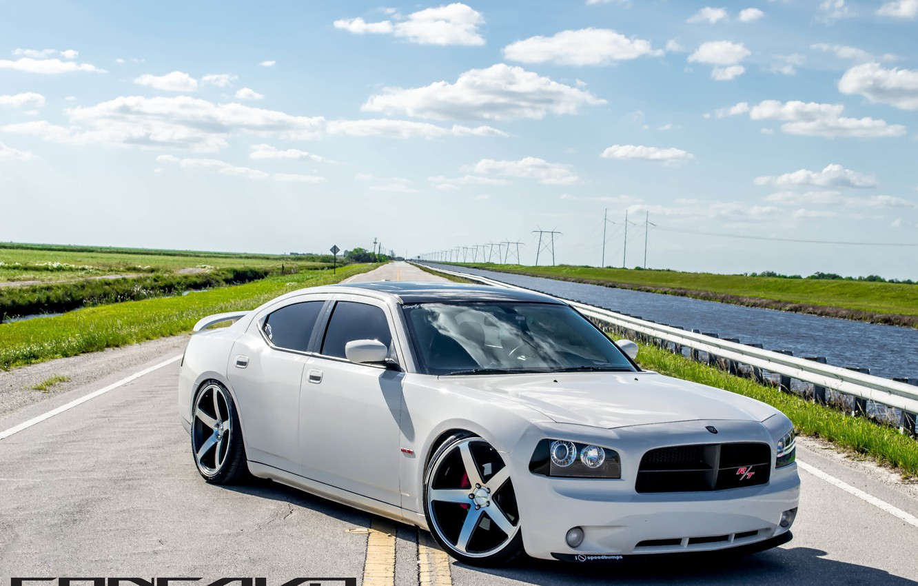 Photo wallpaper Dodge, Charger, concave, lowered, on 22 CW-5
