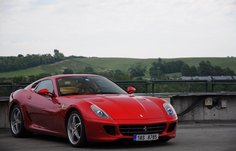 Photo wallpaper Ferrari, Red, 599, HGTE