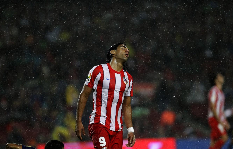 Wallpaper Rain Football Spain Club Player Atletico Madrid