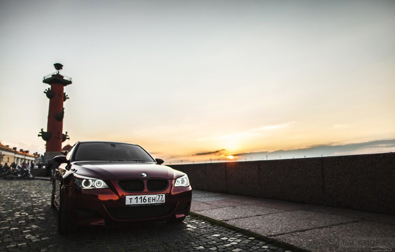 Photo wallpaper machine, auto, BMW, Shadow, auto, review, E60, Smotra