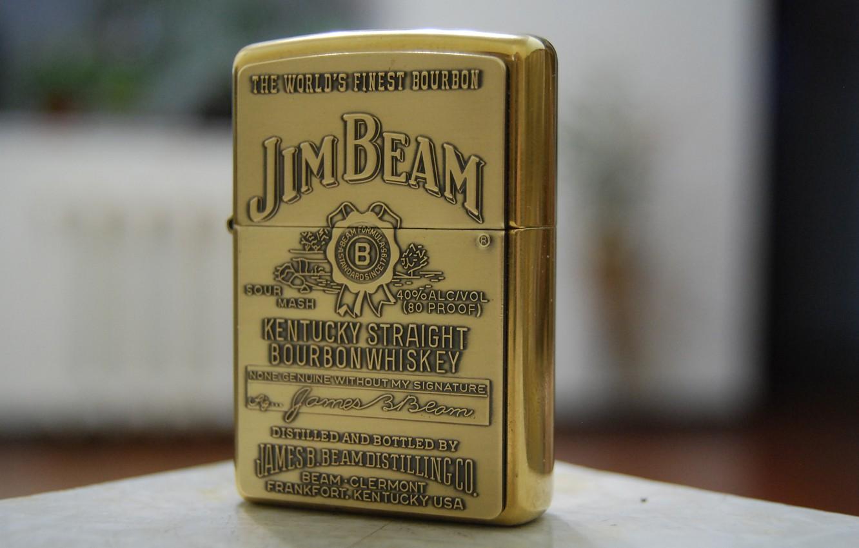 Photo wallpaper zippo, gold, lighter