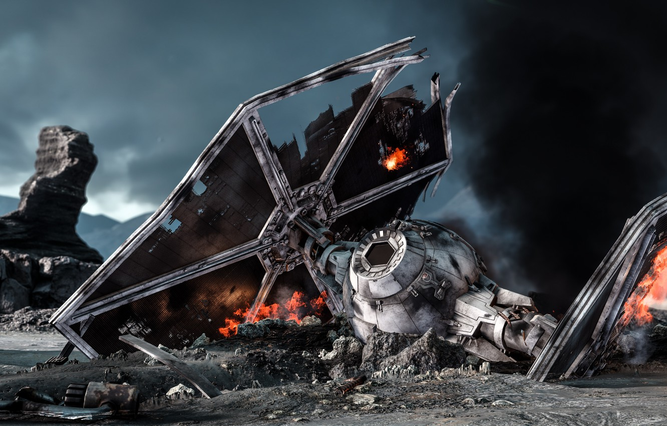 Wallpaper Game Destroyed Electronic Arts Dice Tie Fighter Star Wars Battlefront Sullust Sullust Images For Desktop Section Igry Download