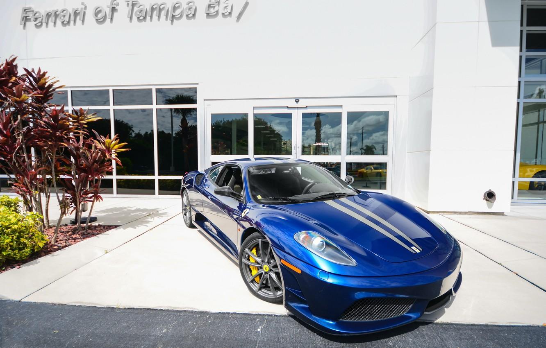 Photo wallpaper F430, Ferrari, Blue, Scuderia