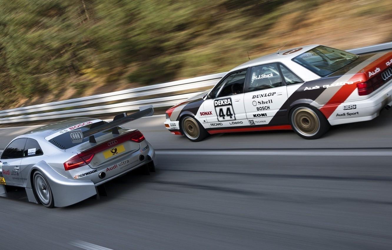 Photo wallpaper movement, audi, two, sport, DTM, German Touring Car Masters