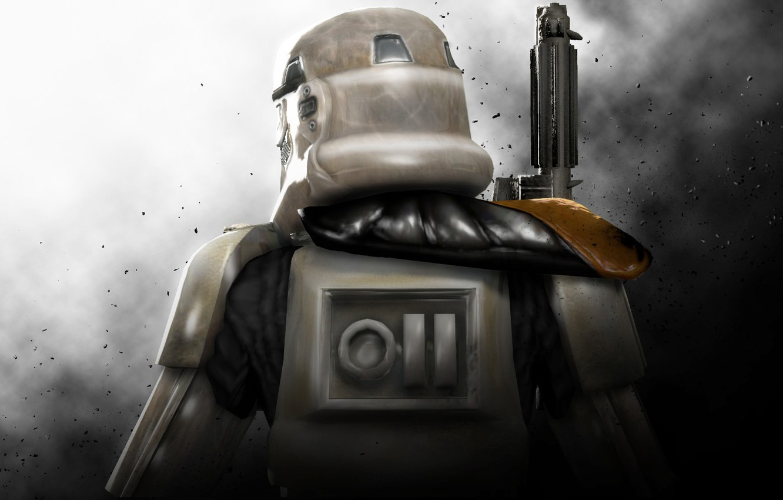 Photo wallpaper art, star wars, art, Attack, Stormtrooper