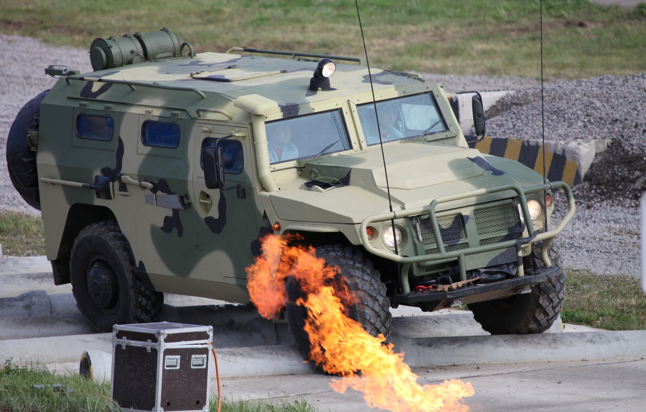 Photo wallpaper army, Tiger, Russia, armored car, military vehicle-SUV, GAZ-2330