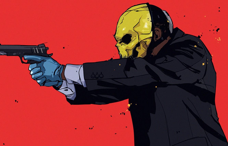 Photo wallpaper Gun, Mask, Overkill Software, PAYDAY 2