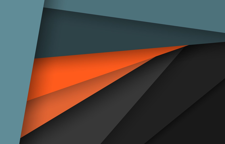 Wallpaper Line Orange Grey Blue Geometry Design Color