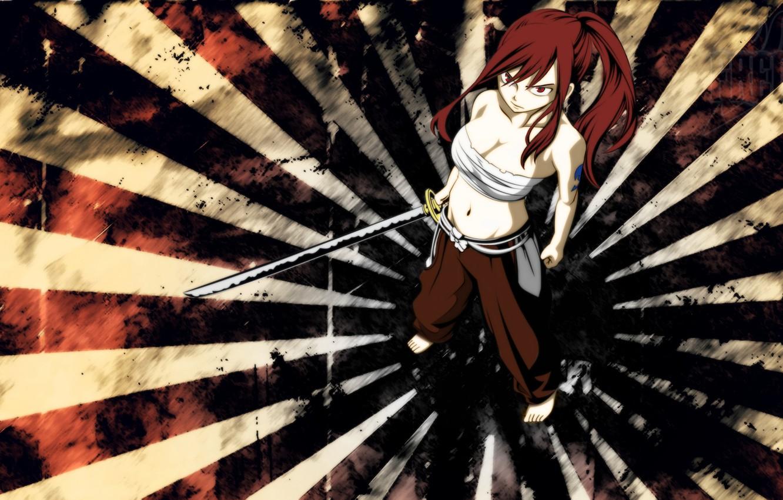 Photo wallpaper sword, Anime, edged weapons, wild, fairy tail, Fairy Tail, Ezra Scarlet, Manga, Elsa, Erza, Titania, …