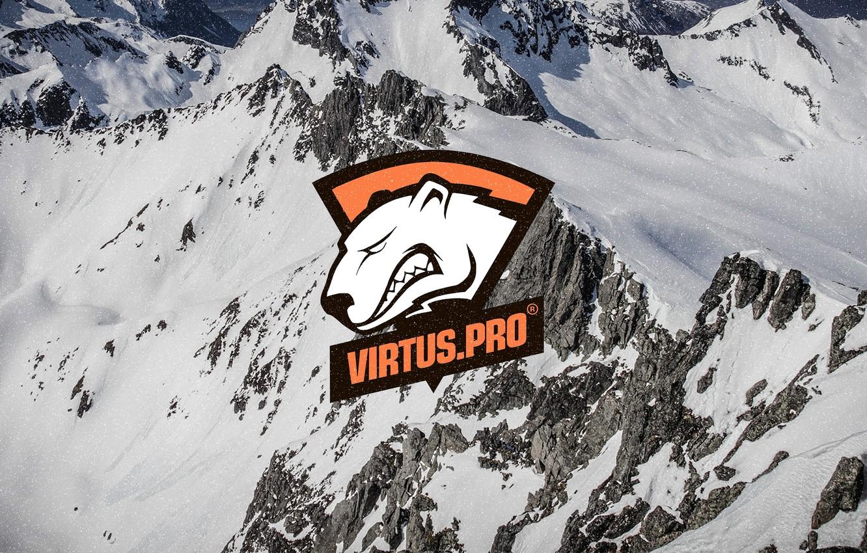 Wallpaper Snow Mountains Logo Csgo Cs Go Virtus Pro