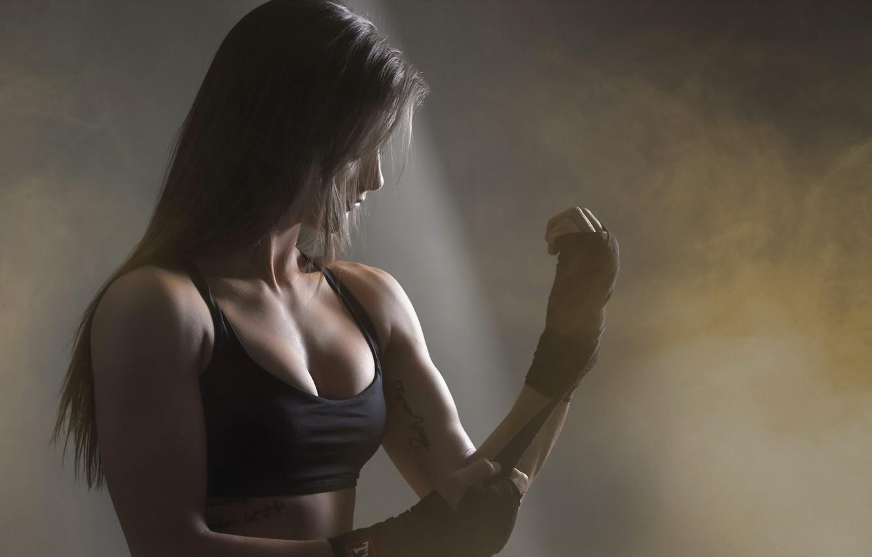 Photo wallpaper girl, background, sport