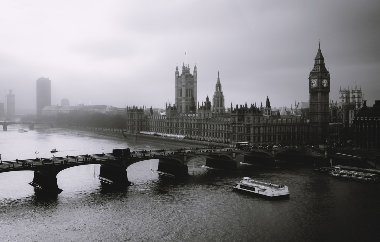Photo wallpaper fog, London, london