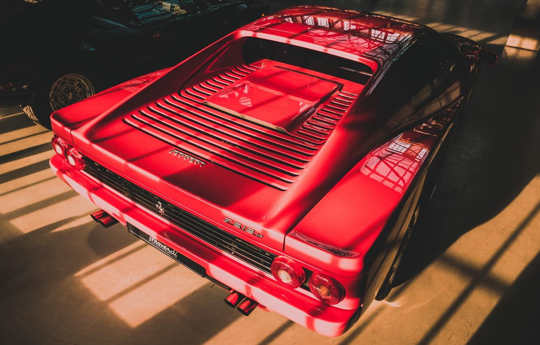 Photo wallpaper red, Ferrari, 1995, Testarossa, F 512 M