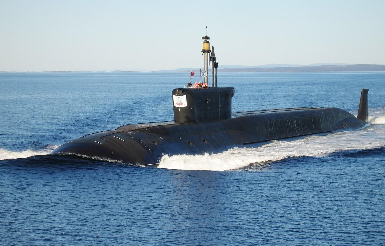Photo wallpaper sea, submarine, project 955