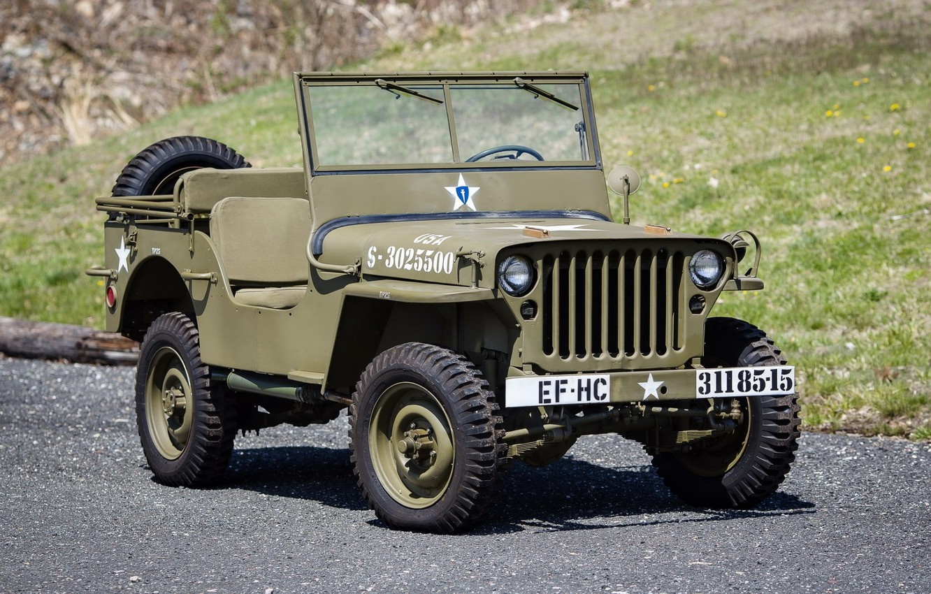 Photo wallpaper Jeep, the front, 1942, Jeep, Willys, Willis