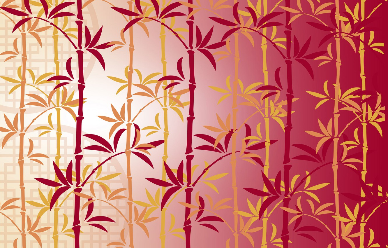 Photo wallpaper pattern, bamboo, Chinese lunar New Year, China