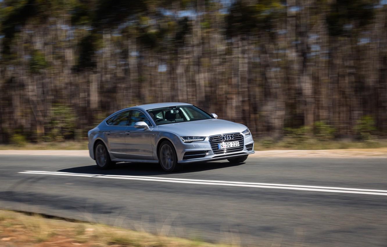 Photo wallpaper road, auto, Audi, speed, TDI, sedan, quattro, S line, Sportback 3.0