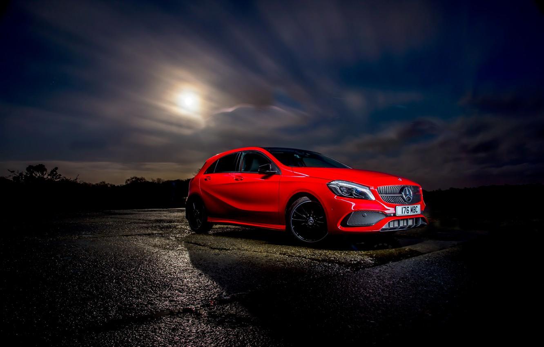 Photo wallpaper red, Mercedes-Benz, Mercedes, AMG, AMG, A-class, W176