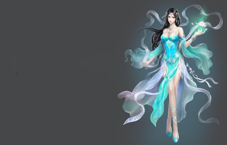 Photo wallpaper girl, fantasy, magic, the game, art, Lotus, China