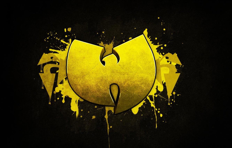 Photo wallpaper Music, Black, Logo, Wallpaper, Yellow, Wu-Tang Clan, Hardcore Hip-Hop