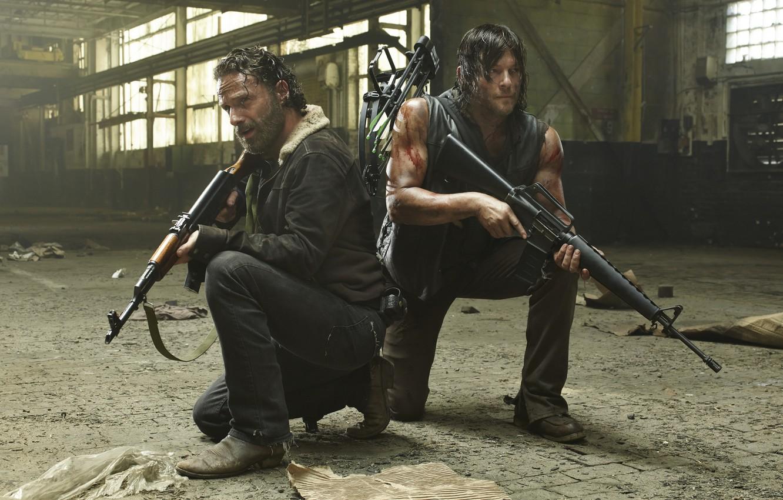 Photo wallpaper The Walking Dead, Rick Grimes, The walking dead, Andrew Lincoln, Andrew Lincoln