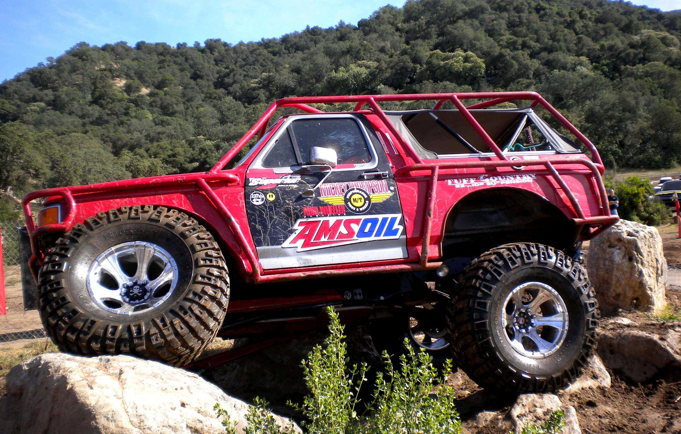 Photo wallpaper stones, SUV, overcoming, Trak-trial, obstacles