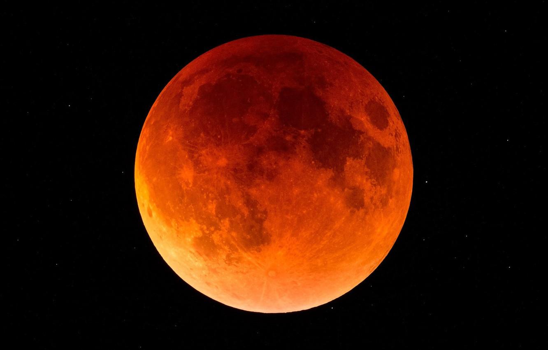 Photo wallpaper planet, satellite, The moon, Eclipse