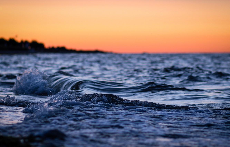 Photo wallpaper sea, wave, water, macro, nature, river, background, the ocean, widescreen, Wallpaper, wave, the evening, wallpaper, …