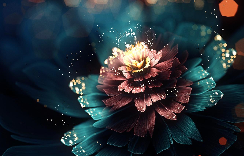 Photo wallpaper flower, light, abstraction, petals