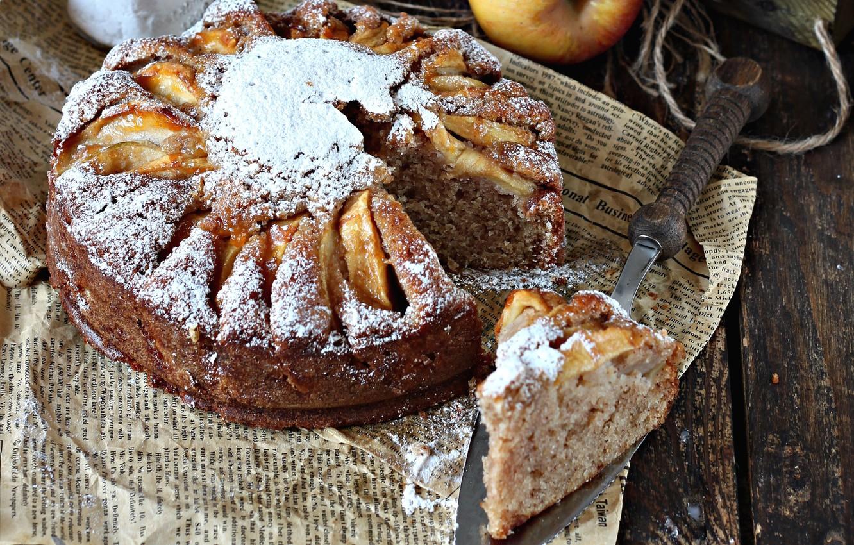 Photo wallpaper apples, pie, cakes, piece