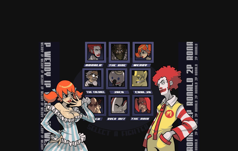 Photo wallpaper girl, clown, character, selection, choice