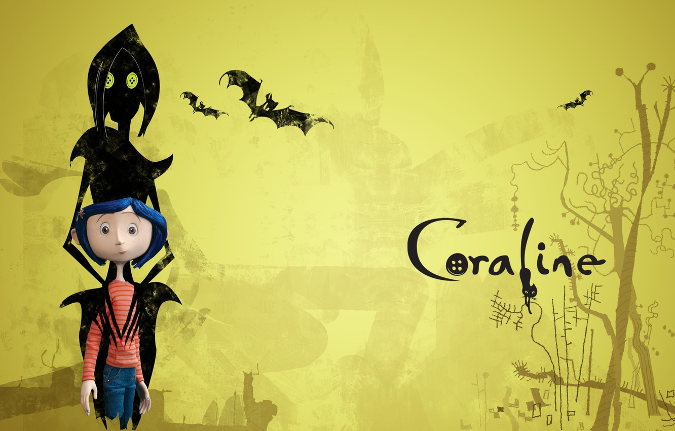Wallpaper Cat The Inscription Cartoon Girl Witch Scary Story