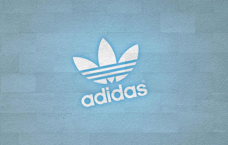 Photo wallpaper wall, logo, adidas