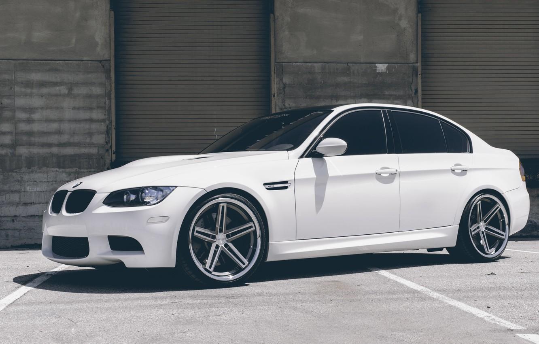 Photo wallpaper BMW, White, BMW, White, E90, Concept One