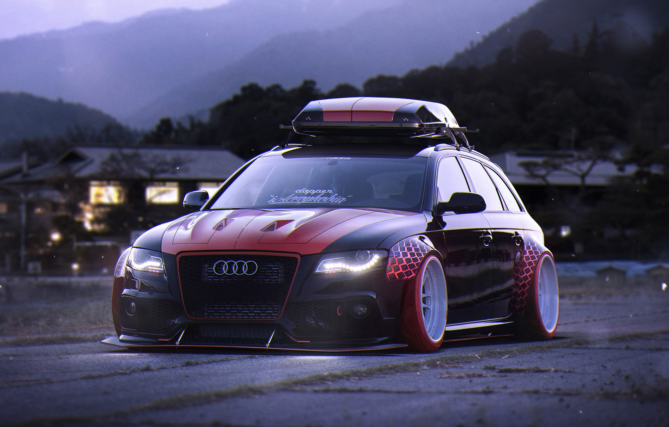 Photo wallpaper Audi, Car, Tuning, Future, Stance, Low, Before, by Khyzyl Saleem