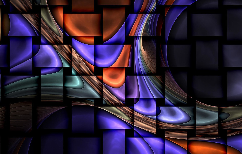 Photo wallpaper wave, strip, fractal, rectangles
