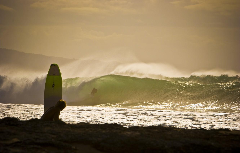 Photo wallpaper wave, beach, squirt, the ocean, Board, surfing, surfing