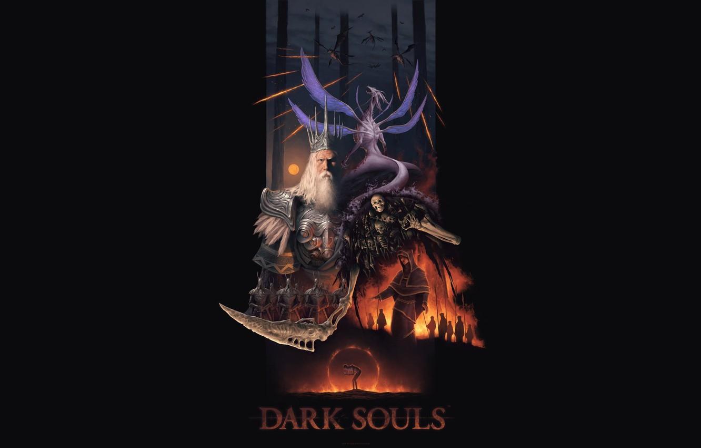 Wallpaper Art 1920x1080 Dark Souls Minimalism Lord Of