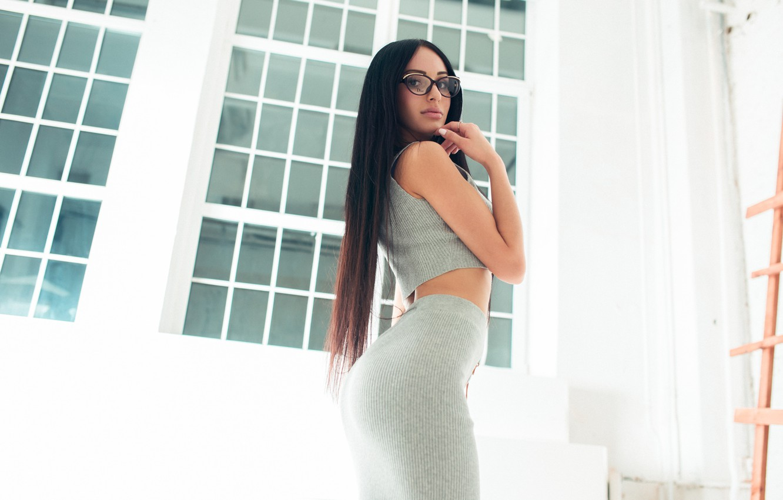 Photo wallpaper Girl, Beautiful, Ass, Model, Body, White, View, Hair, Katya, Gorokhov