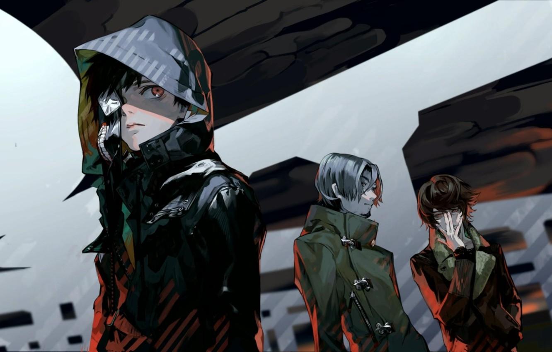 Photo wallpaper mask, hood, guys, tokyo ghoul, Ken kanek, art. anime