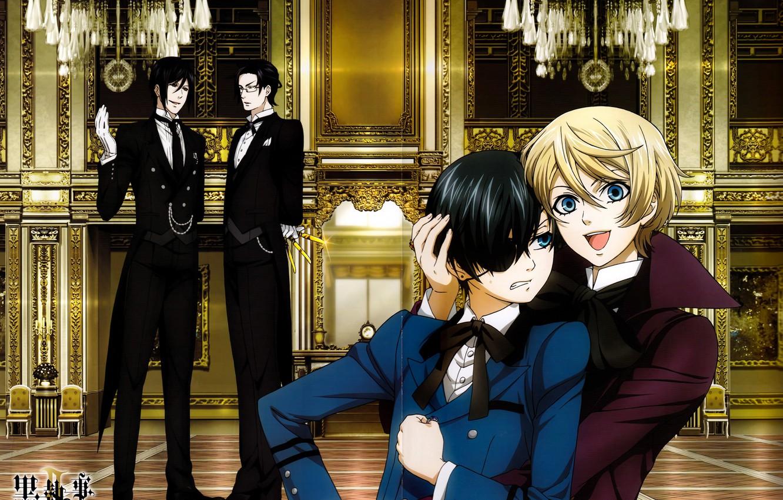 Photo wallpaper kuroshitsuji, Ciel, Sebastian, Dark Butler