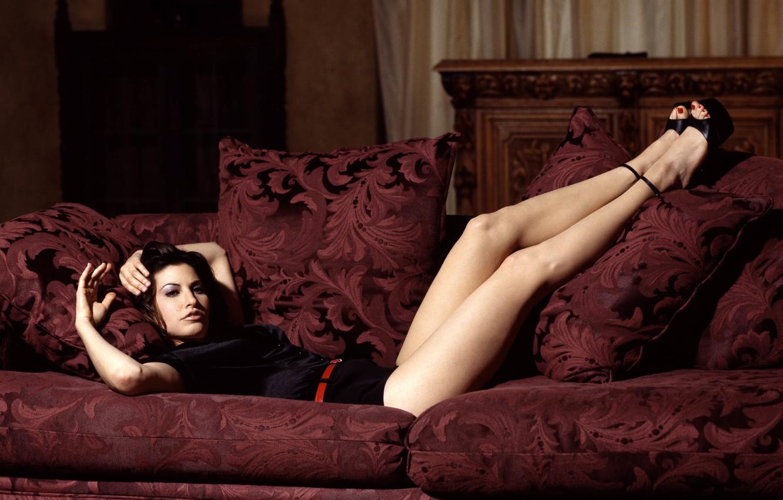 Photo wallpaper sofa, Gina Gershon, Gina Gershon