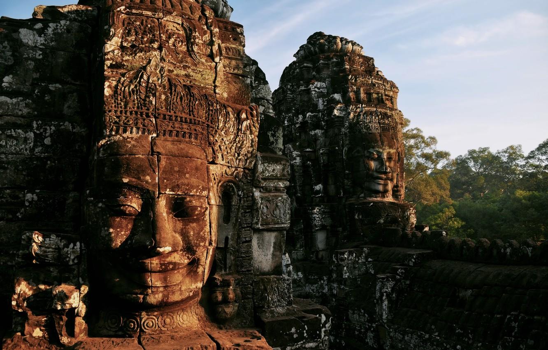 Photo wallpaper the city, temple, ruins, Cambodia, sanctuary