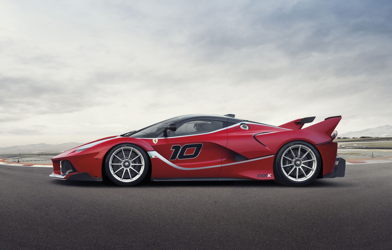 Photo wallpaper Ferrari, Ferrari, Red, Side, View, Supercar, FXX K