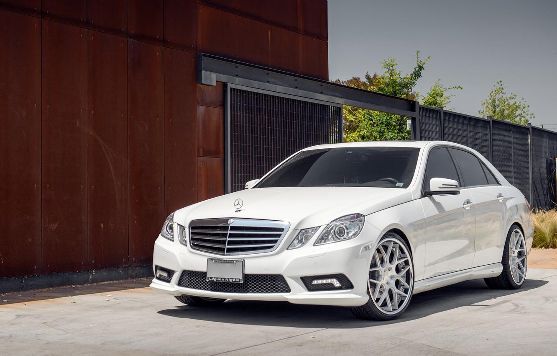 Photo wallpaper white, before, Mercedes, white, E-class, Mercedes, E550