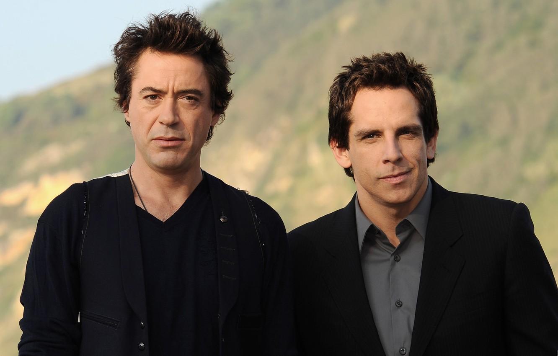 Photo wallpaper actors, Robert Downey Jr, men, Ben Stiller, Robert Downey ml, Ben Stiller