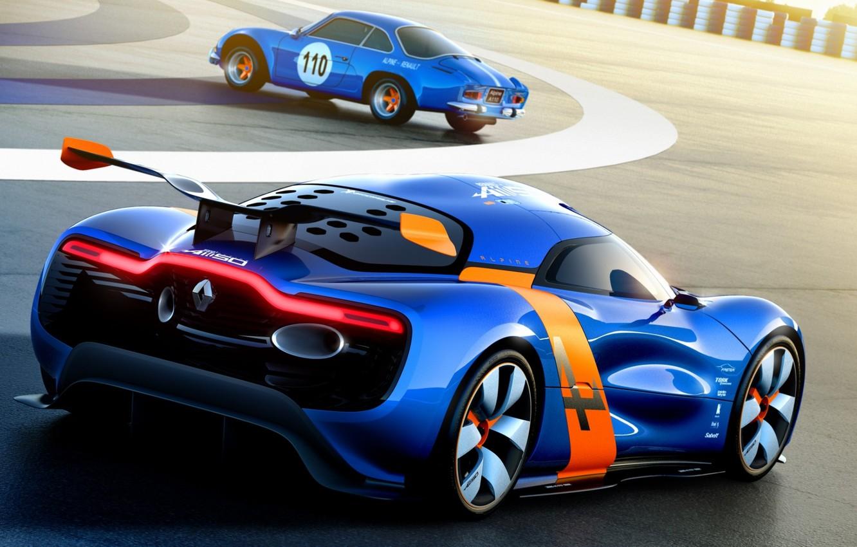 Photo wallpaper Concept, the concept, Renault, Reno, rear view, racing track, Alpine, Alpine, A110-50