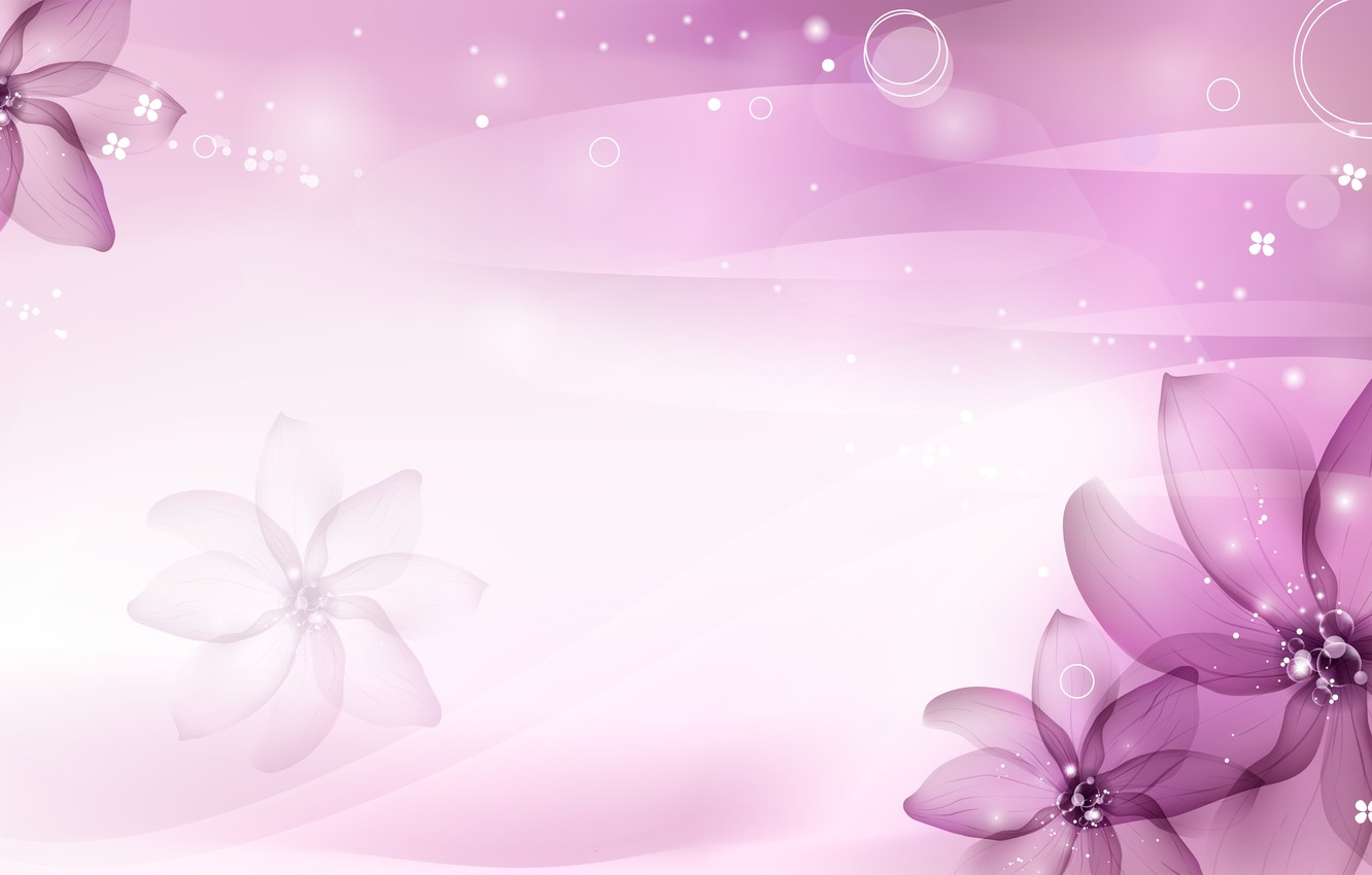 Photo wallpaper purple, flowers, petals